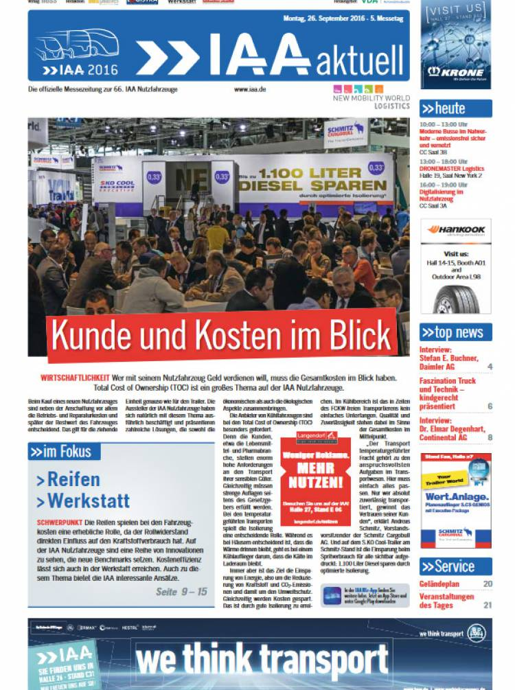 IAA Aktuell 2016 - 26. September