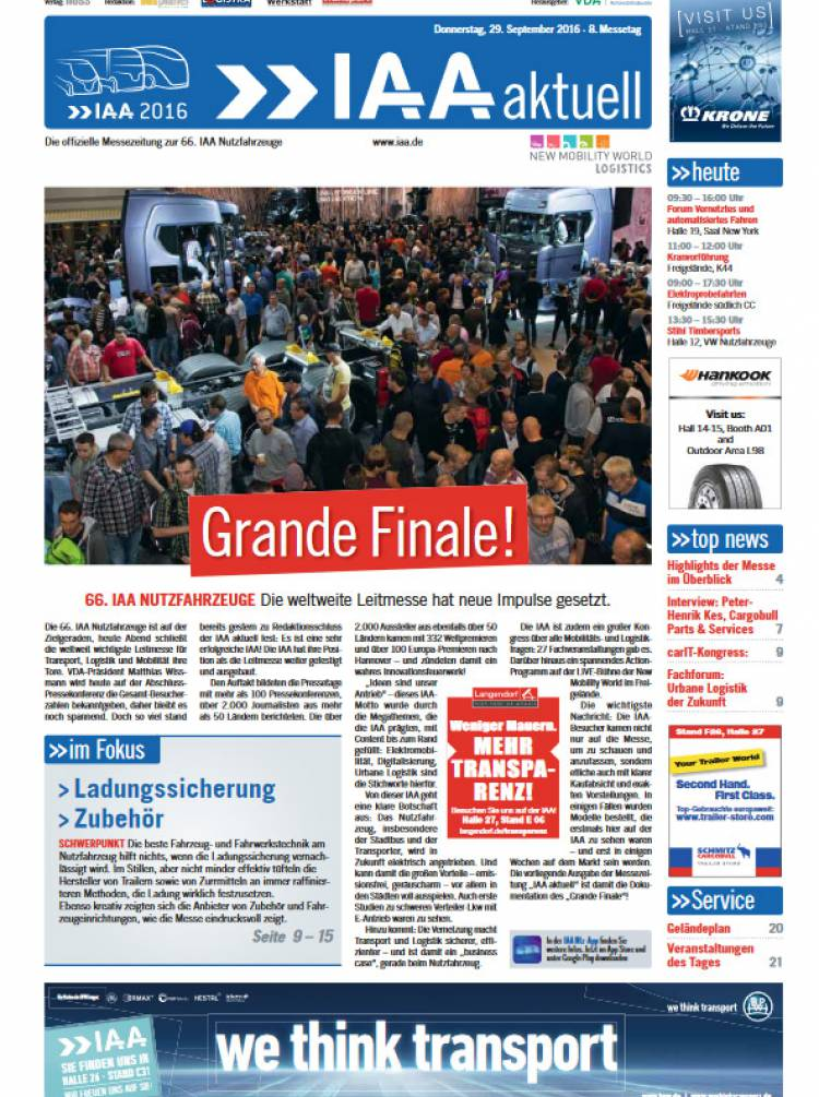 IAA Aktuell 2016 - 29. September