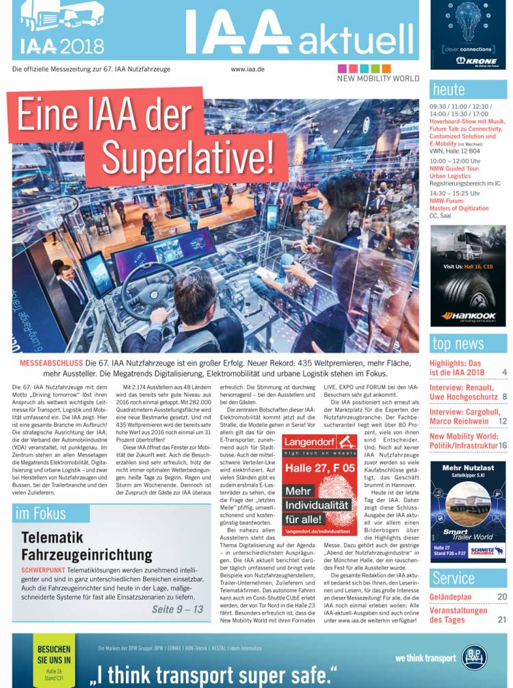 IAA aktuell 2018 - 27. September
