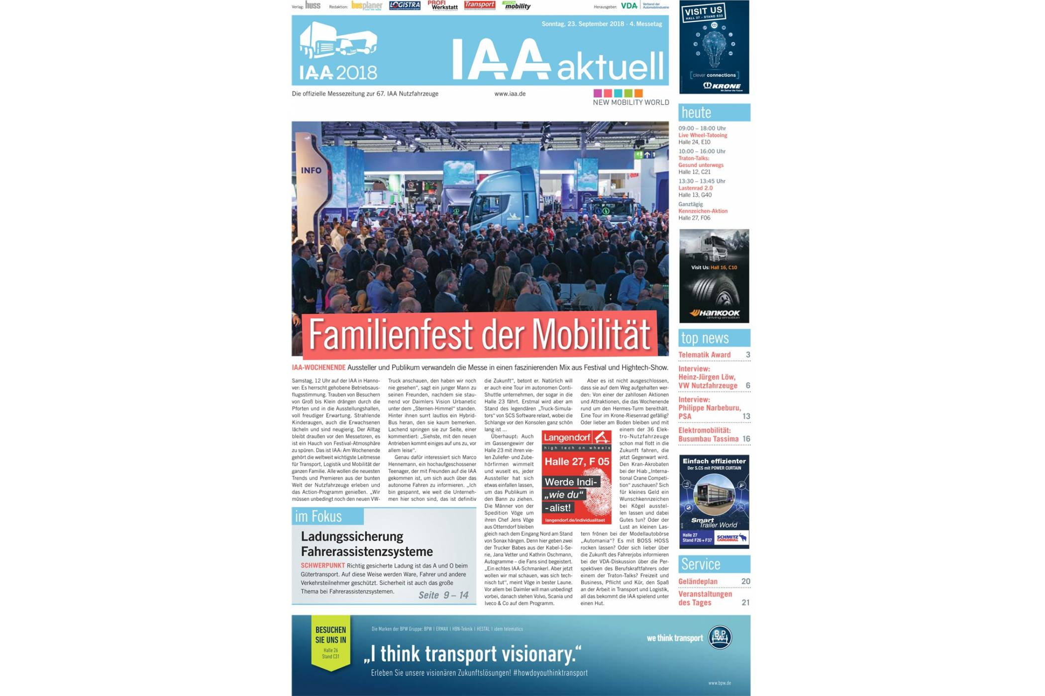 IAA aktuell 2018 - 23. September