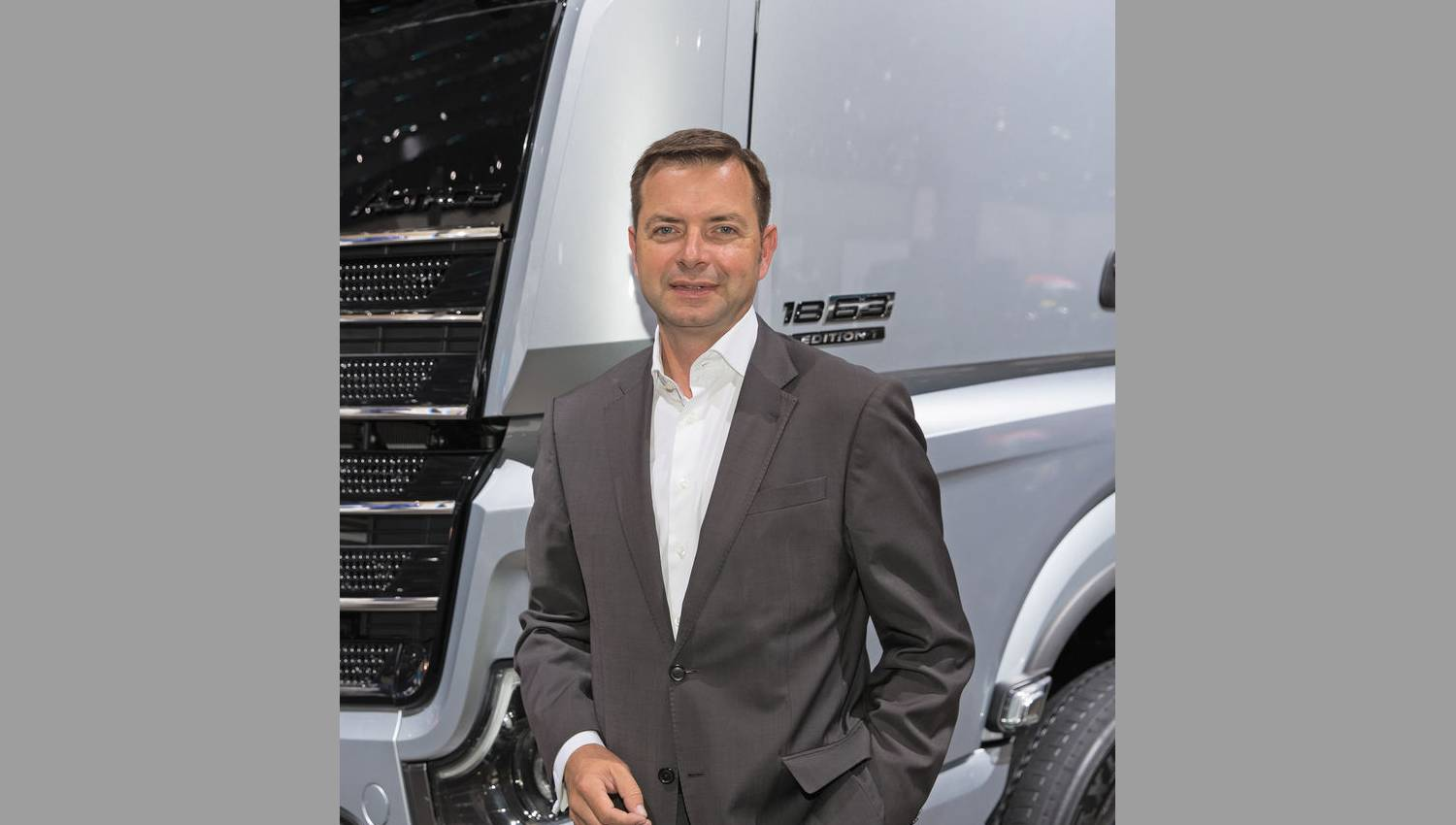Michael Dietz Leiter Global Marketing, Mercedes-Benz Lkw Bild: IAA aktuell